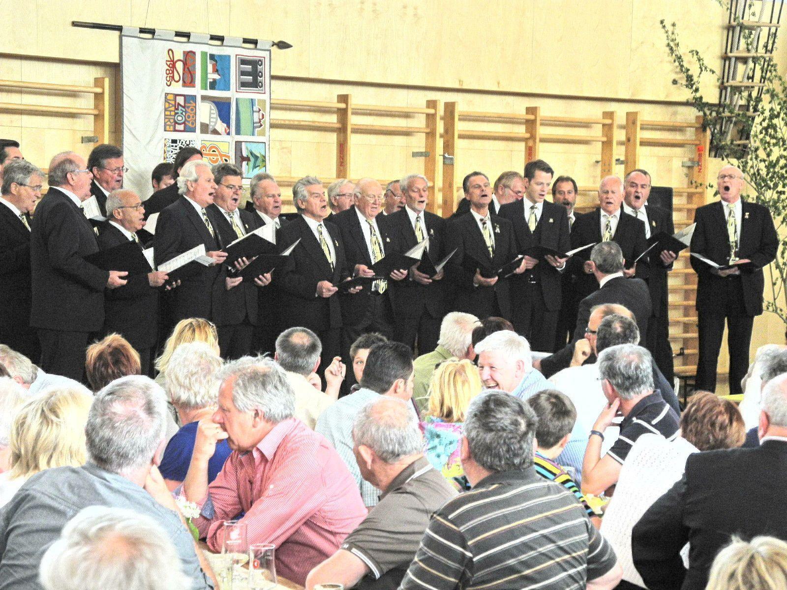 Die Feldkircher Liedertafel konzertierte beim musikalischen Liederhortbrunch