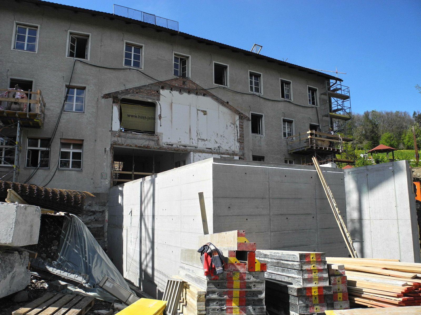 """Die neue """"Andockstelle"""" für die Belieferung des Antoniushaus NEU bzw. die Entsorgung sowie Lagerräume."""