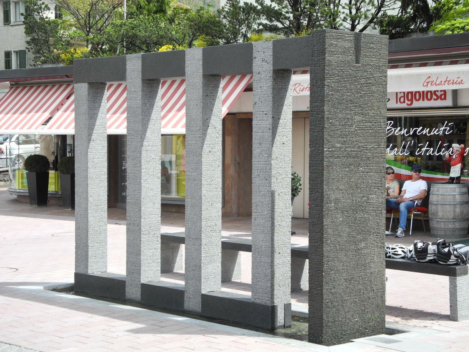 Der neue Dorfbrunnen in Schaan