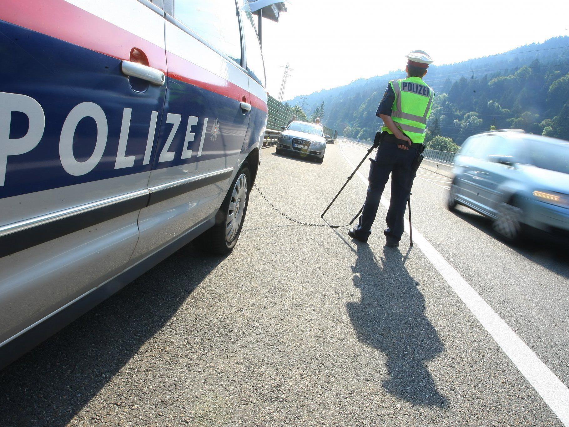 Polizisten konnten Raser in Nüziders stoppen.