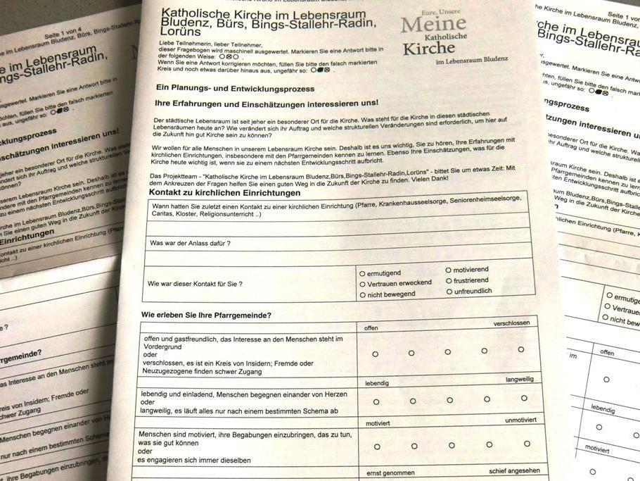 Fragebogenaktion der Katholischen Kirche im Lebensraum Bludenz gestartet