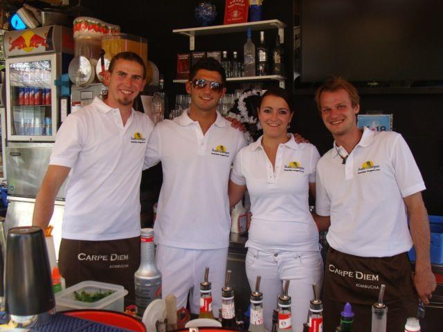 Das Beachbar-Team sorgte für leckere Cocktails
