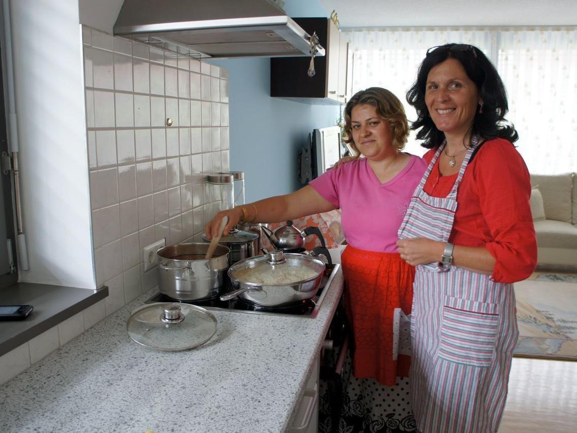 Miteinander kochen und die deutsche Sprache lernen