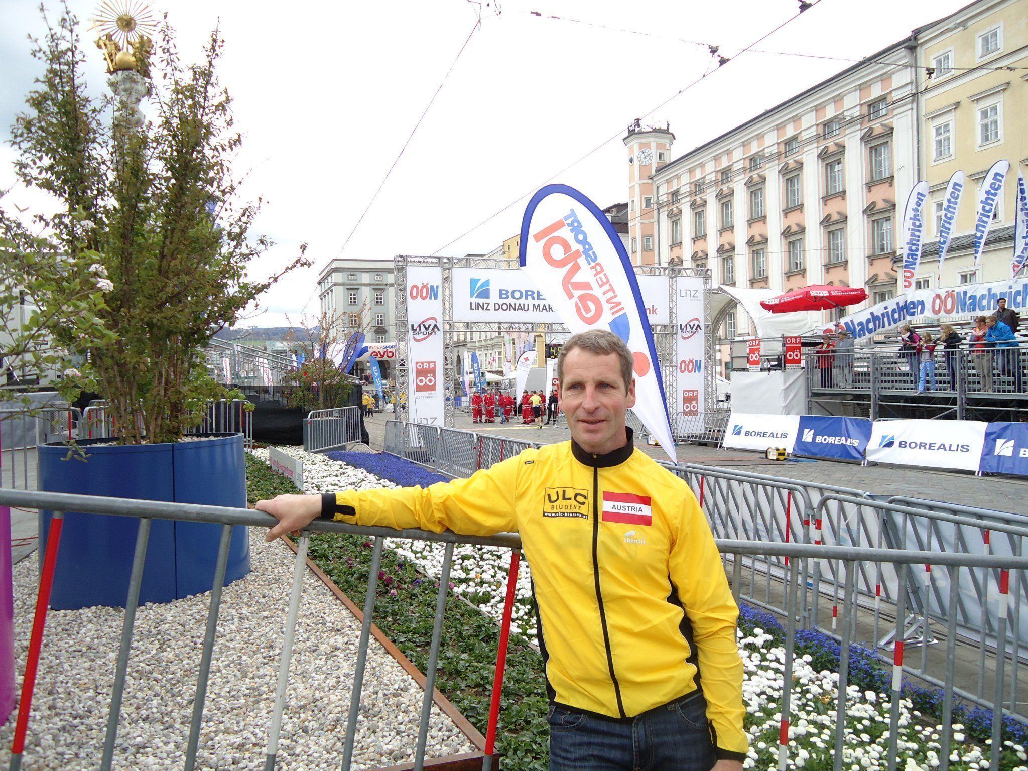 Gerhard Marte beim Linz Halbmarathon