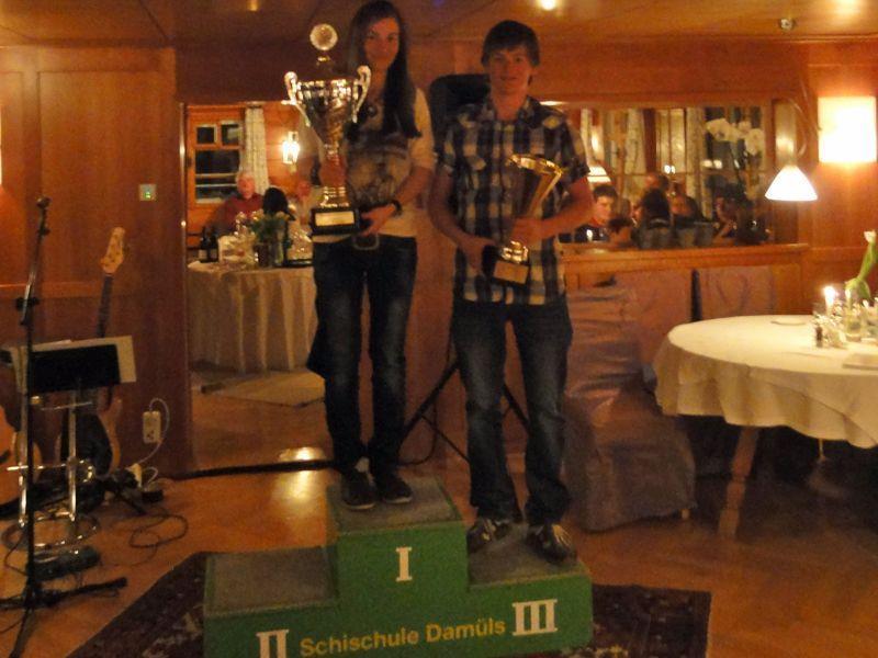 Vereinsmeister 2012 Verena und Dieter Bischof