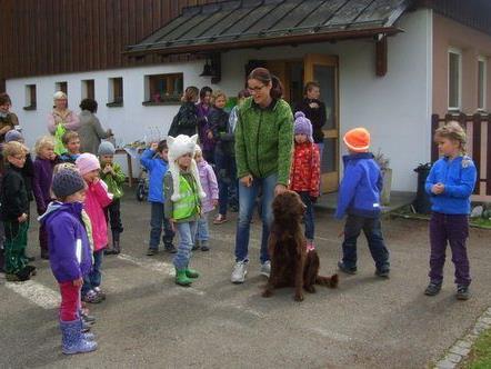 Heidi und Pius zu Gast im Kindergarten Mühle