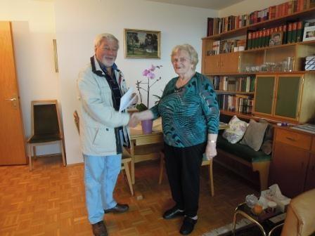 SR Obmann Sigi Hämmerle gratuliert zum runden Geburtstag