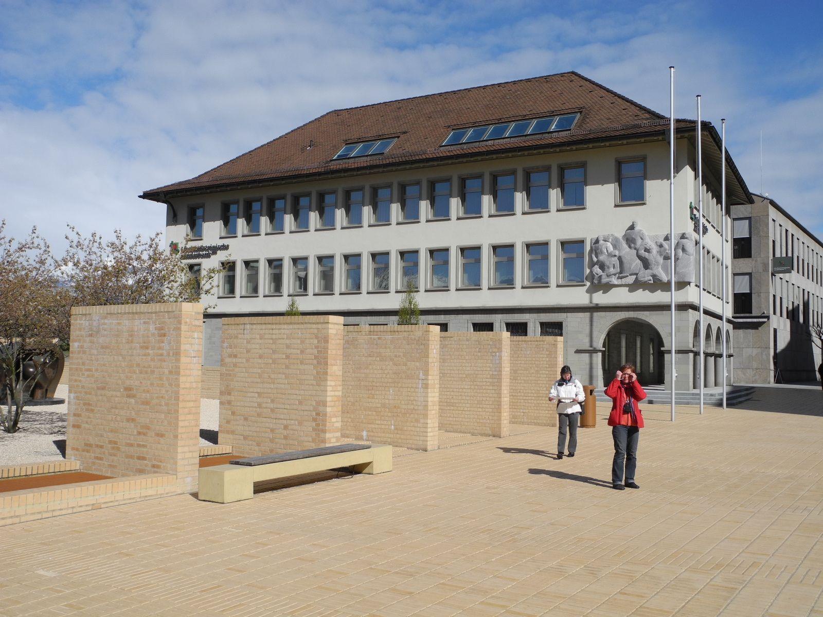 Die Liechtensteinische Landesbank hat ihren Sitz im Regierungsviertel