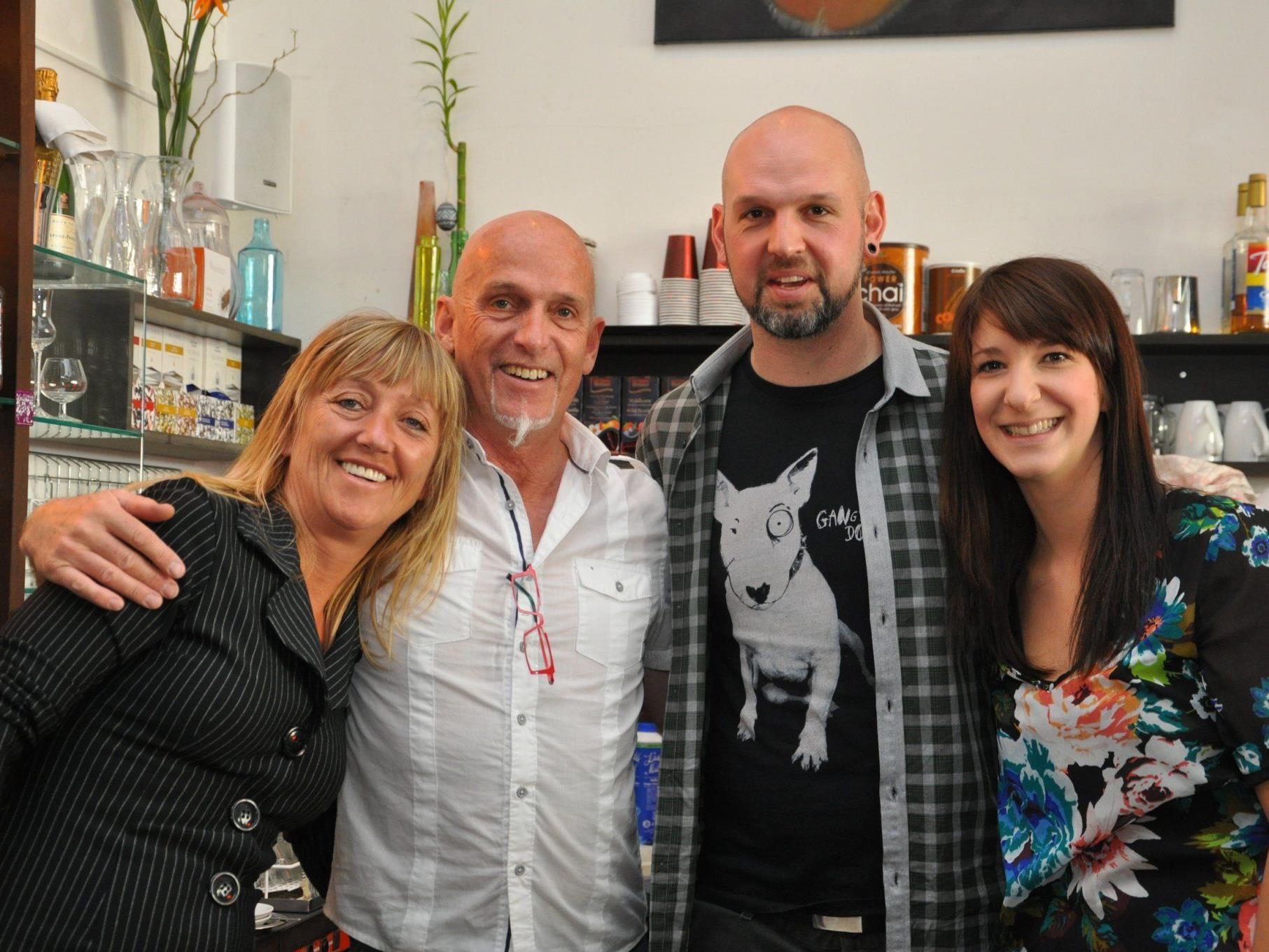 (v.l.) Brigitte, German, Stephen und Kathi