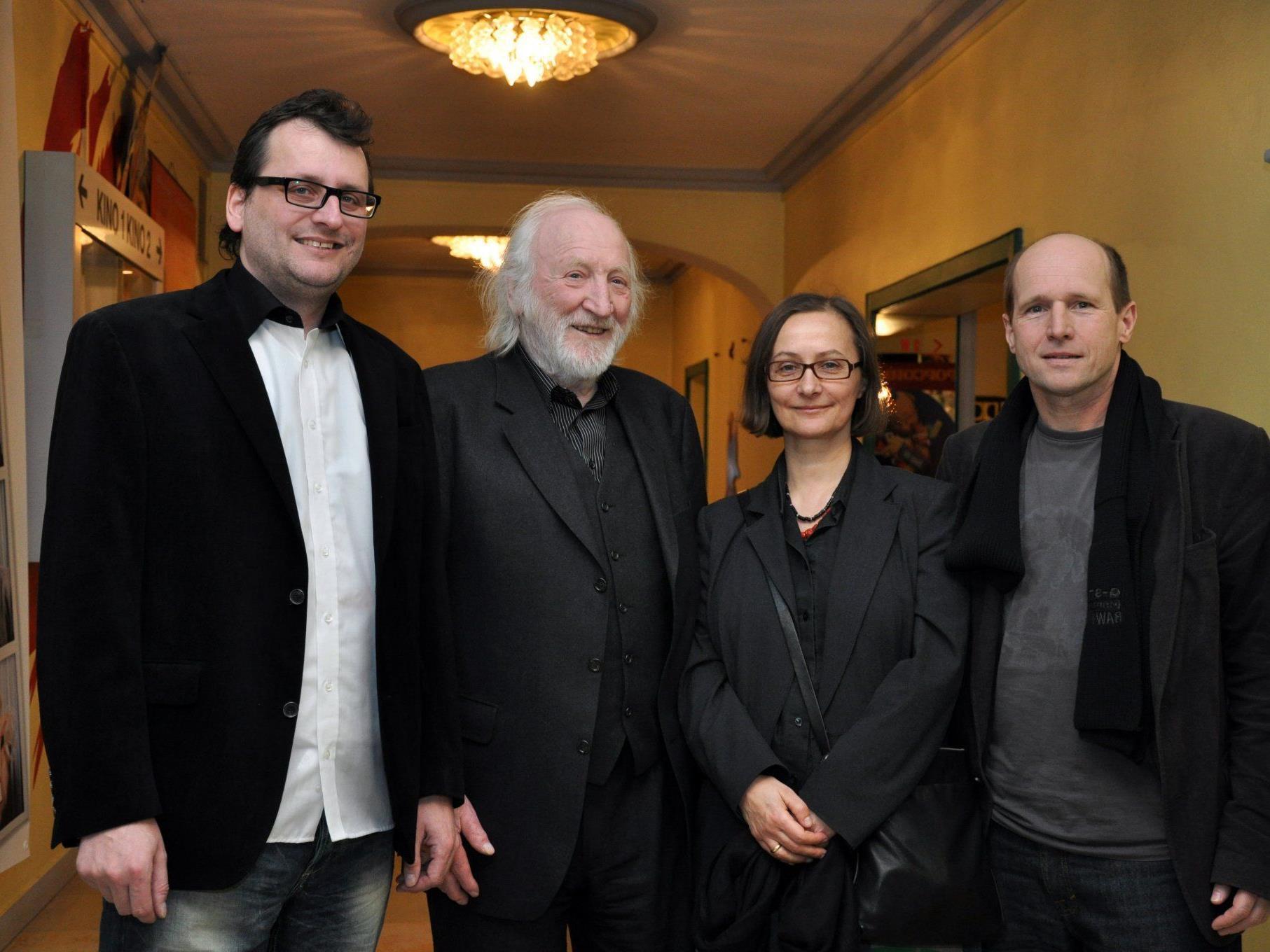 """Karl Merkatz und das Regieduo Hiebler und Ertl präsentierten """"Anfang 80""""."""