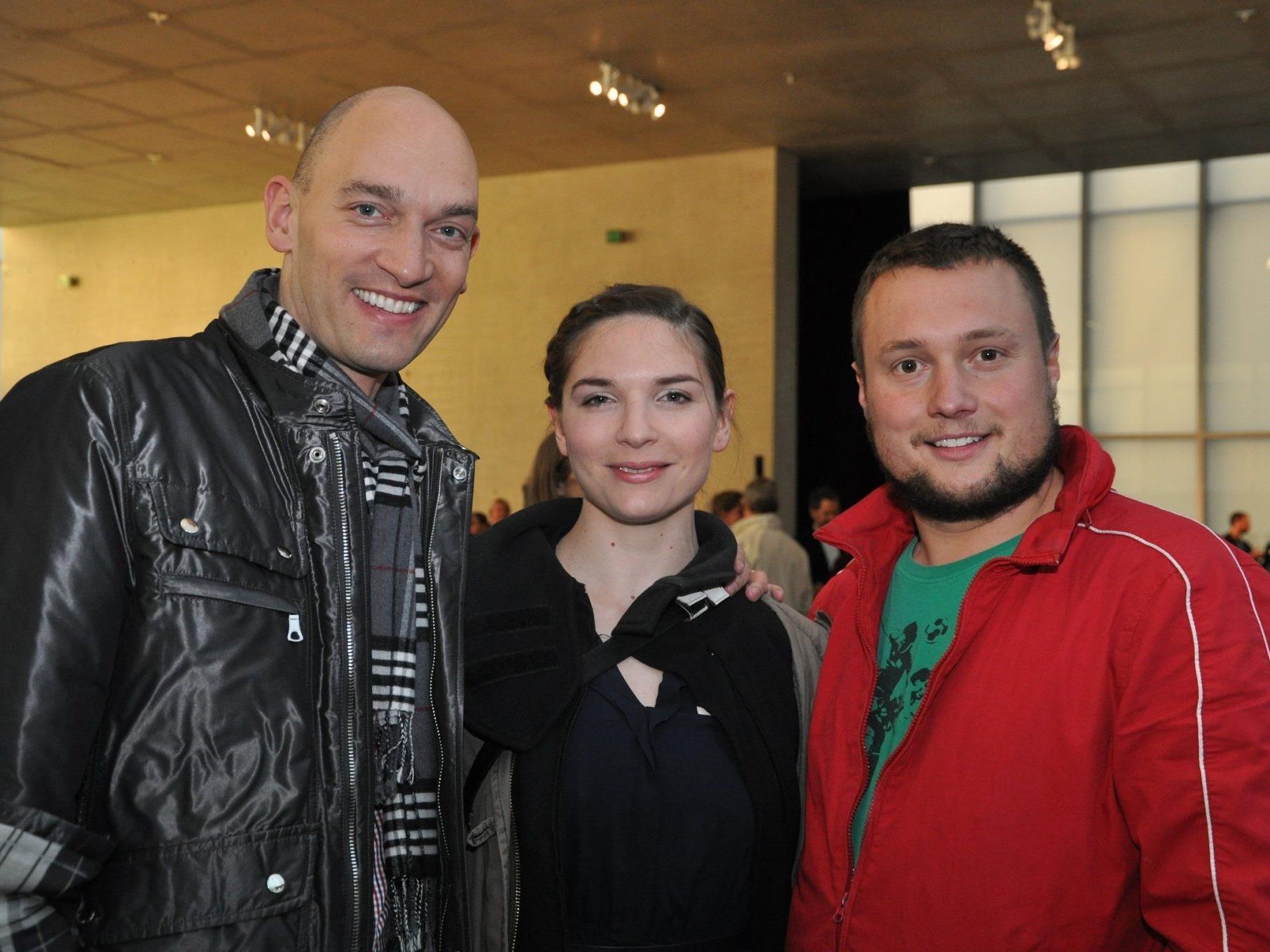 Unter den Gästen (v.l.): Stefan Ruhl, Katrin Hauptmann und Maximilian Laprell