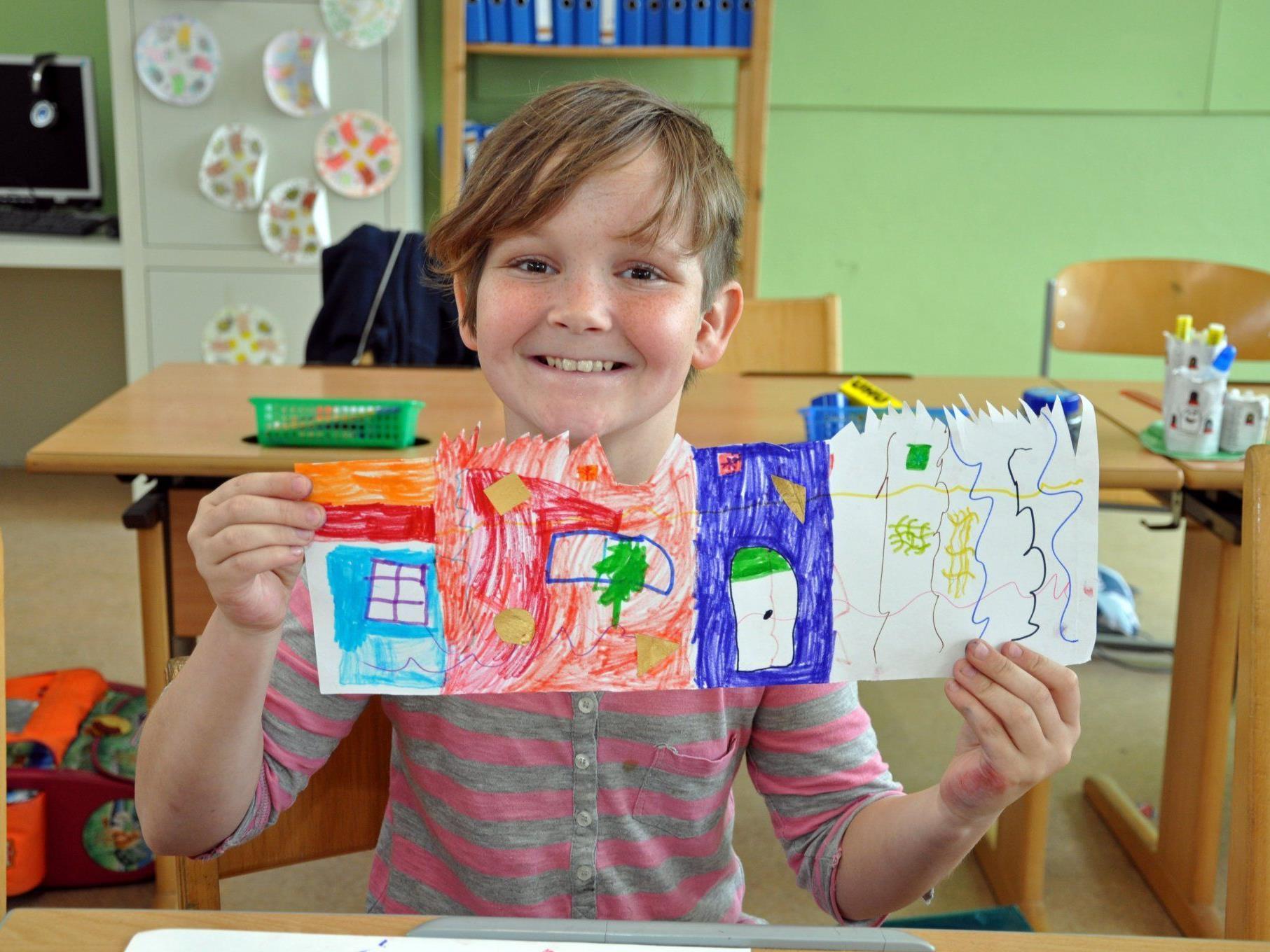 """Am Donnerstagnachmittag gab es """"Kunst pur"""" für die dritten Klassen."""