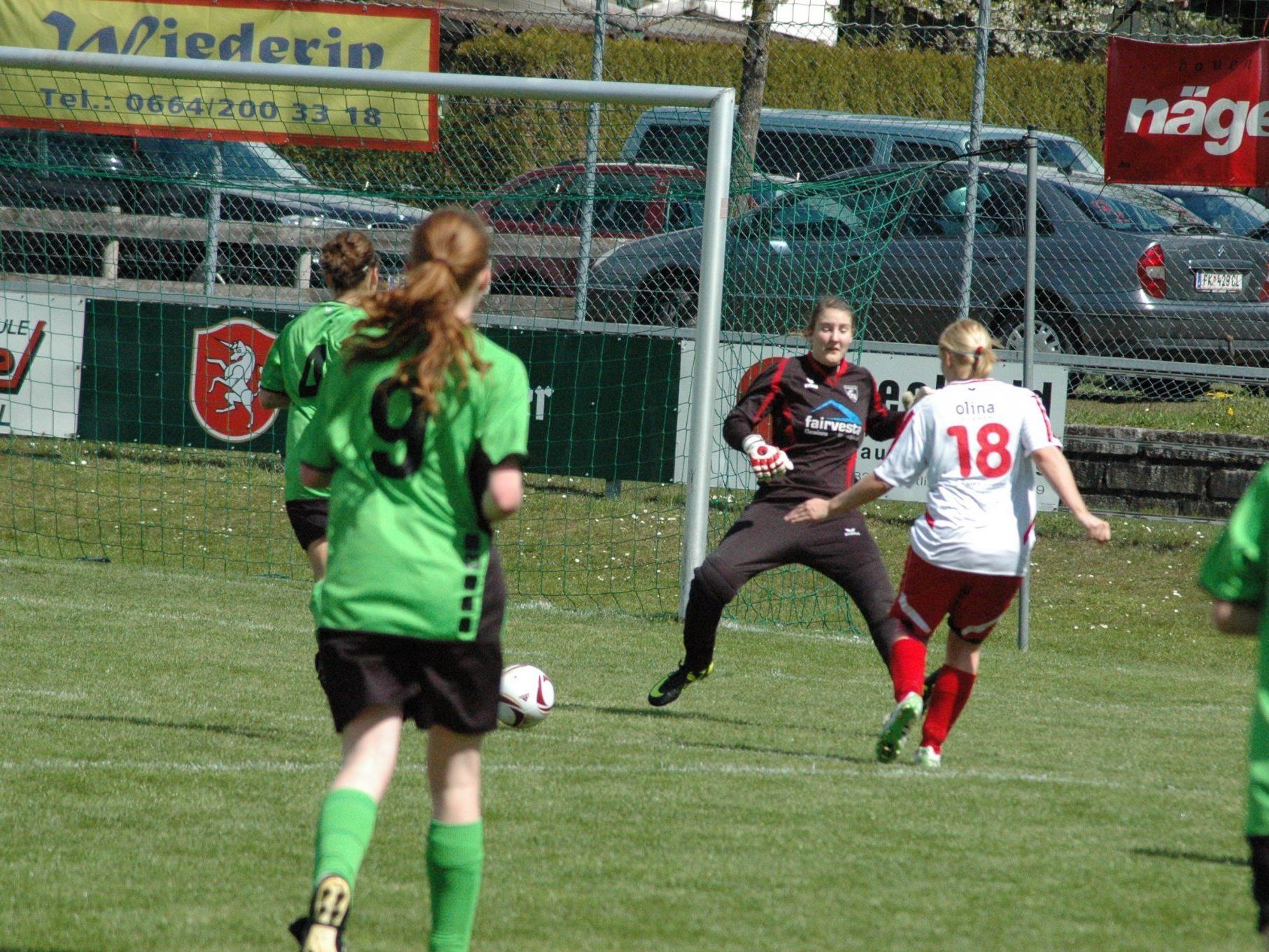 Goalgetterin Anja Stadelmann (18) brachte Rankweil bereits in der 4. Minute in Führung.