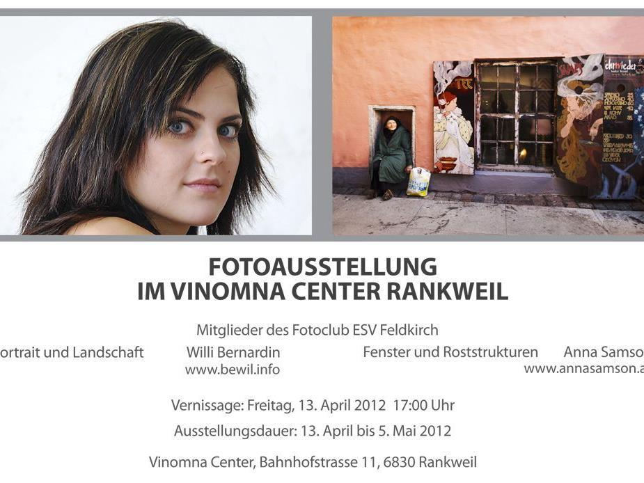 Zwei Hobbyfotografen vom Fotoclub ESV Feldkirch stellen einen Teil ihrer Bilder in Rankweil aus.