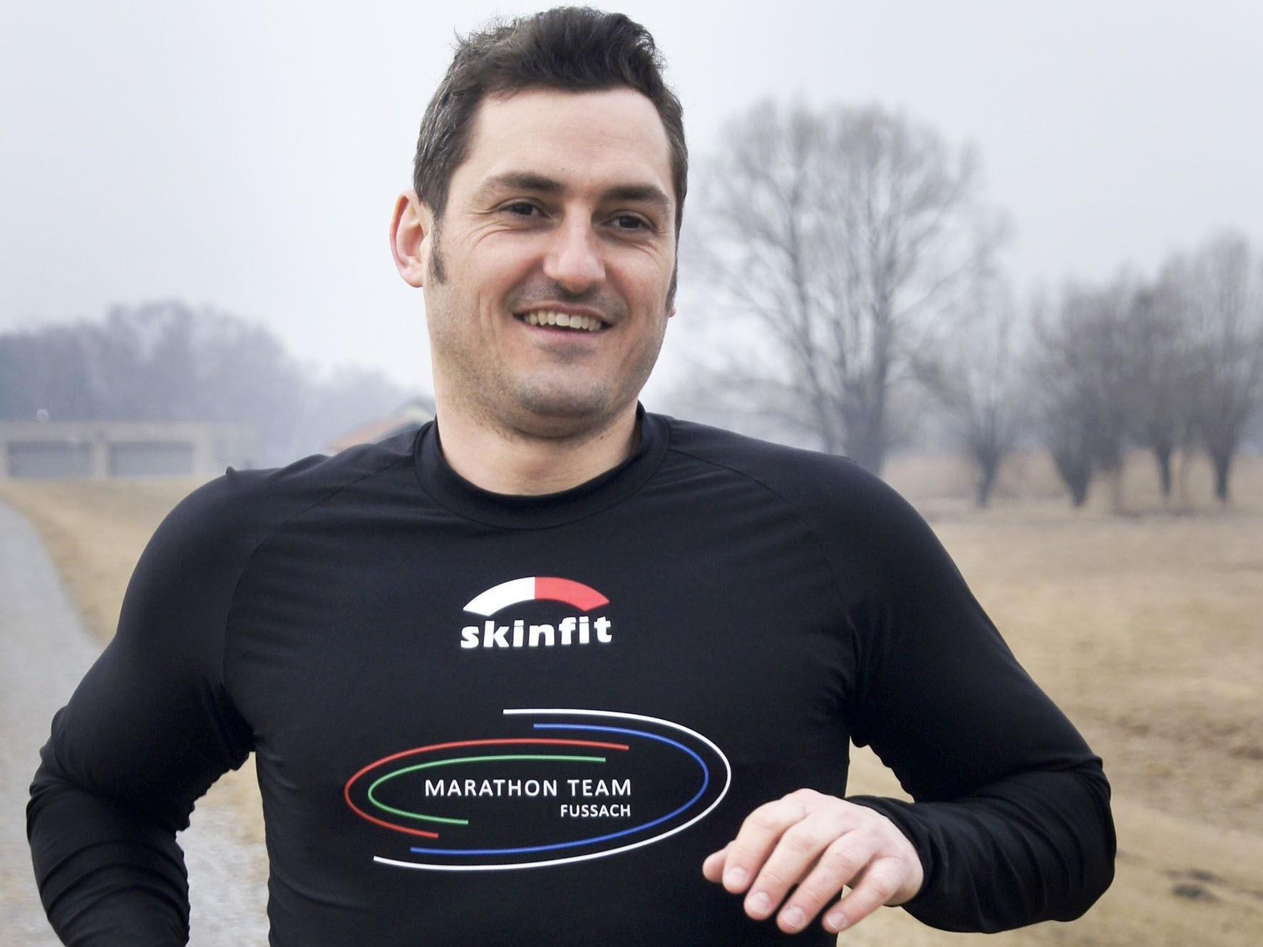 Enrico Lechtaler vom Marathon Team Fußach