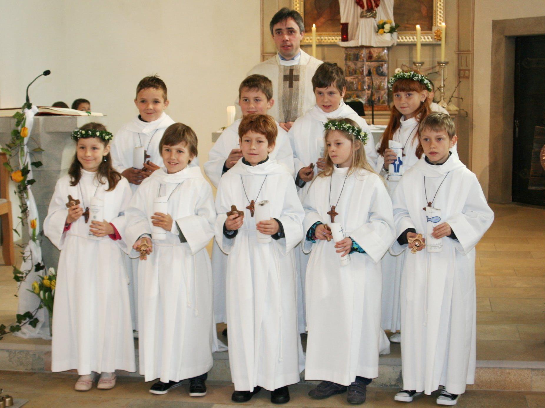 Die Erstkommunion war ein großer Festtag in der Berggemeinde