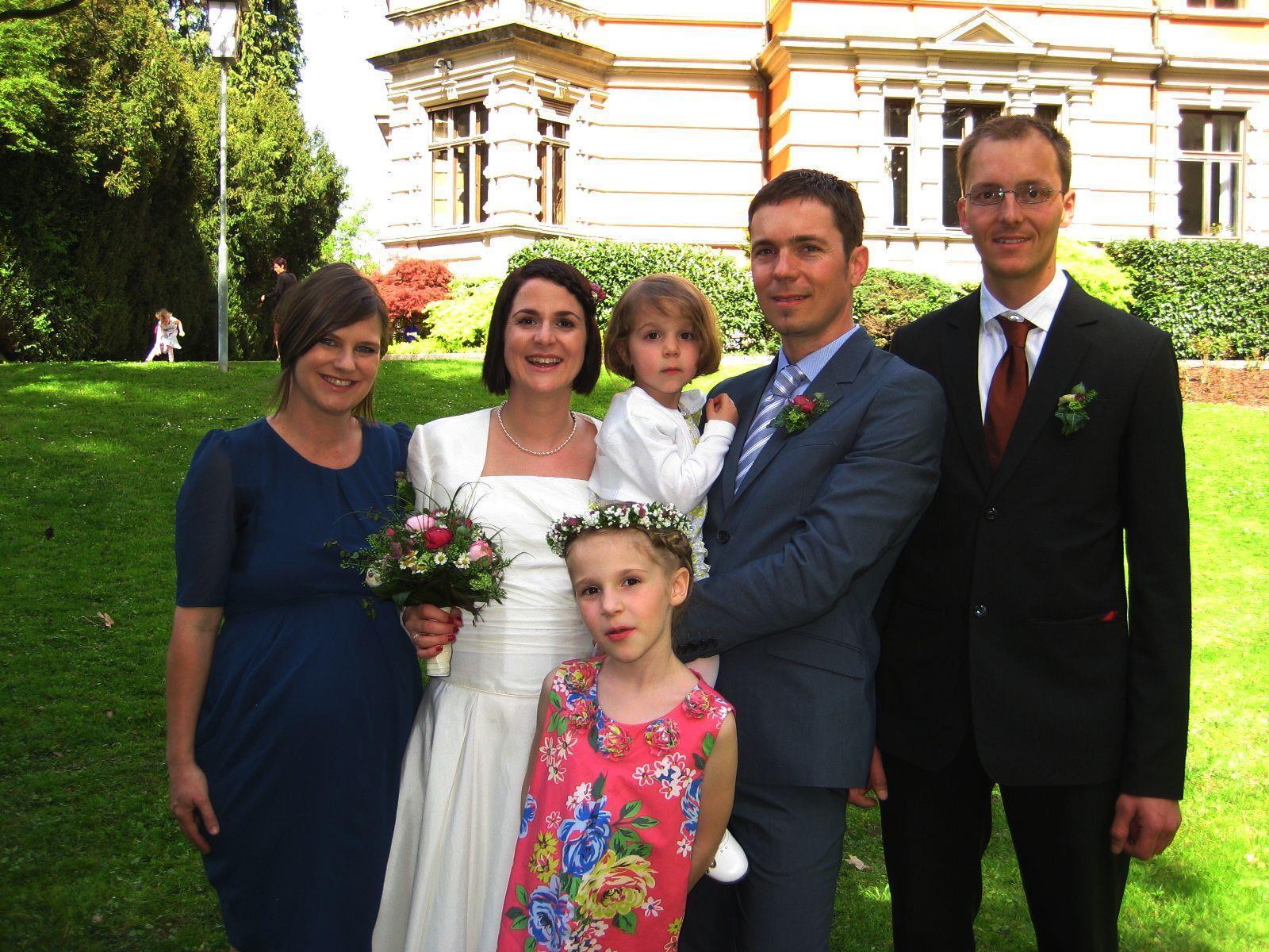 Nadine Fink und Bertram Peer haben geheiratet.