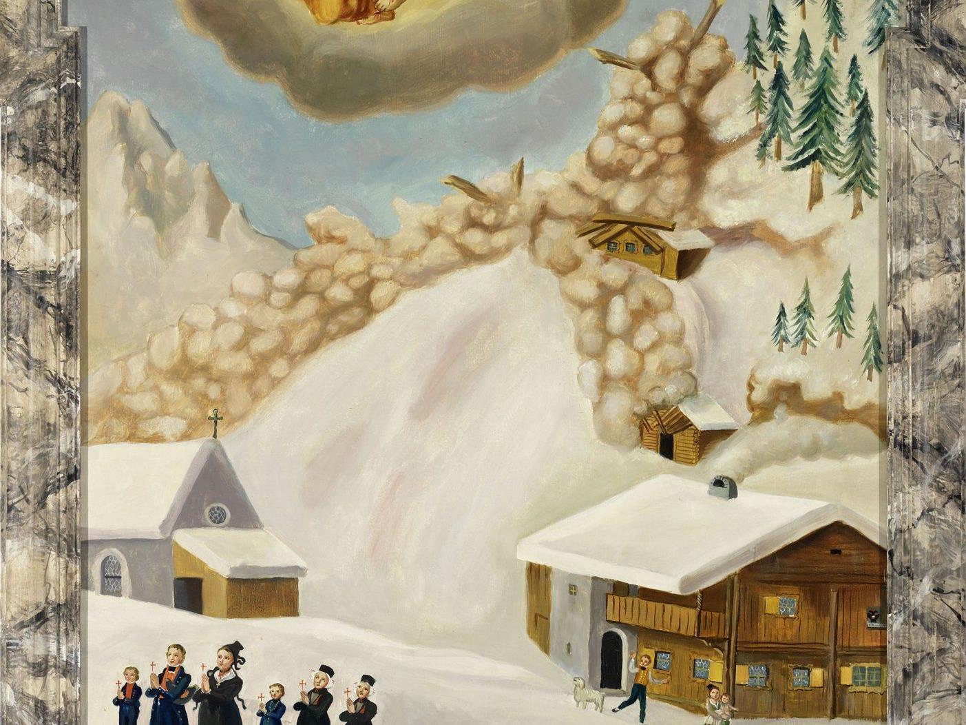 Um die Geschichte dieses Votivbild aus dem Jahr 1817 geht es beim Vortrag von Andreas Rudigier.