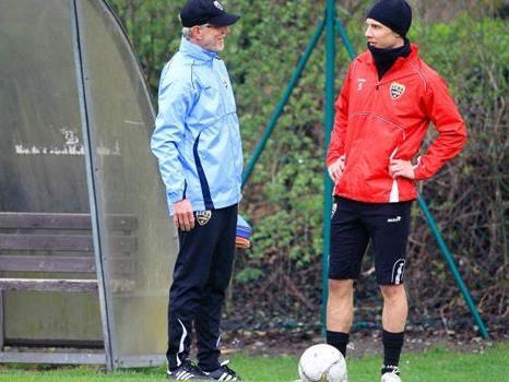 Neuer Trainer Edi Stöhr - erstes Training am Karsamstag