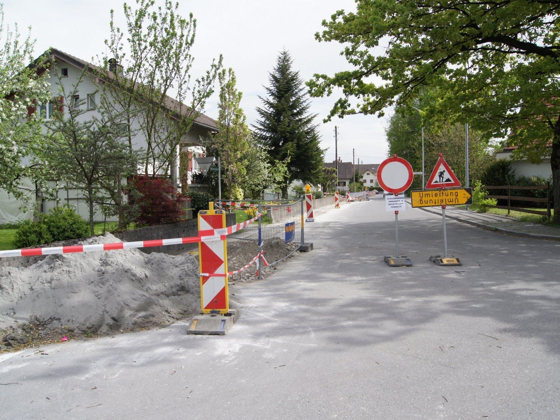 Das Teilstück der Grüttstraße ist gesperrt.