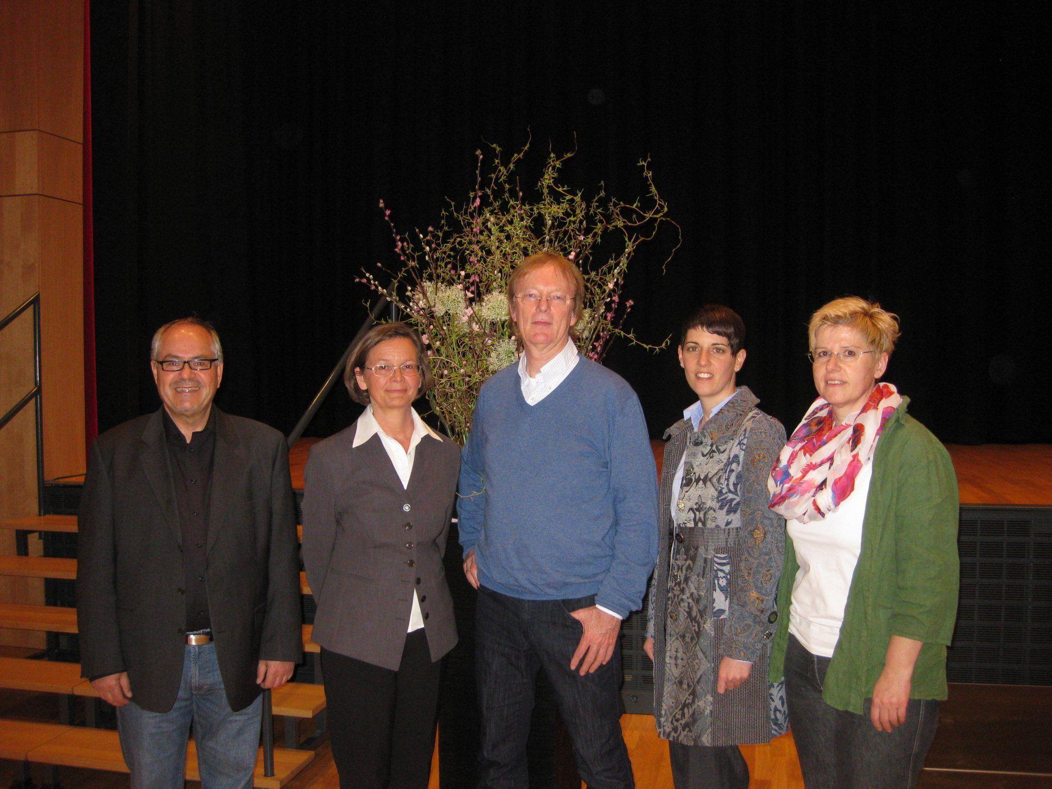 Kurt Hämmerle, Gerda Schmid, Prof. Dr. Günter Funke, Susanna Ajkovic , Dr. Kriemhild Büchel-Kapeller.