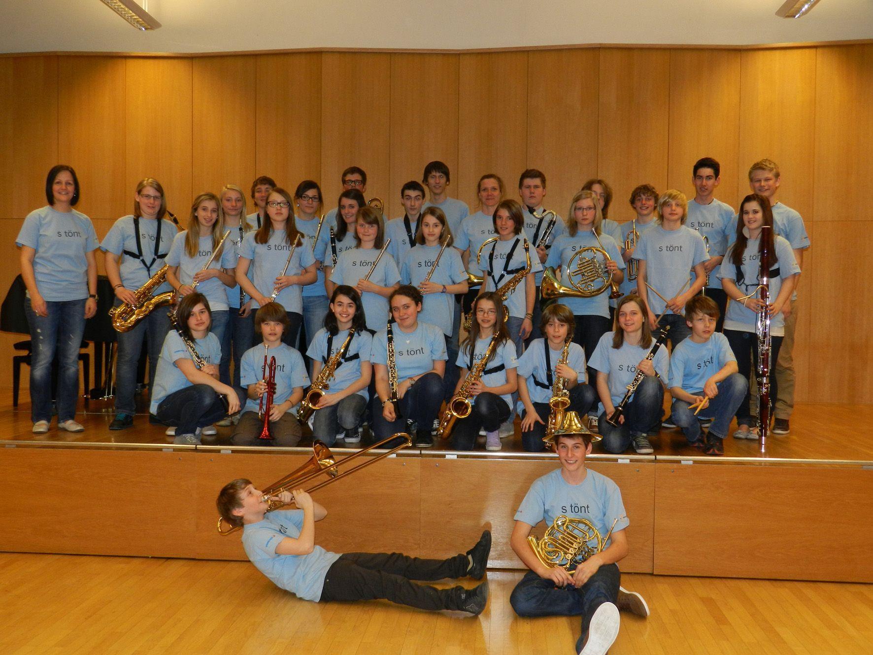 """Das """"Jugendblasorchester """"Tonkraftwerk"""" feiert sein 10-jähriges Bestehen mit einem Jubiläumskonzert."""