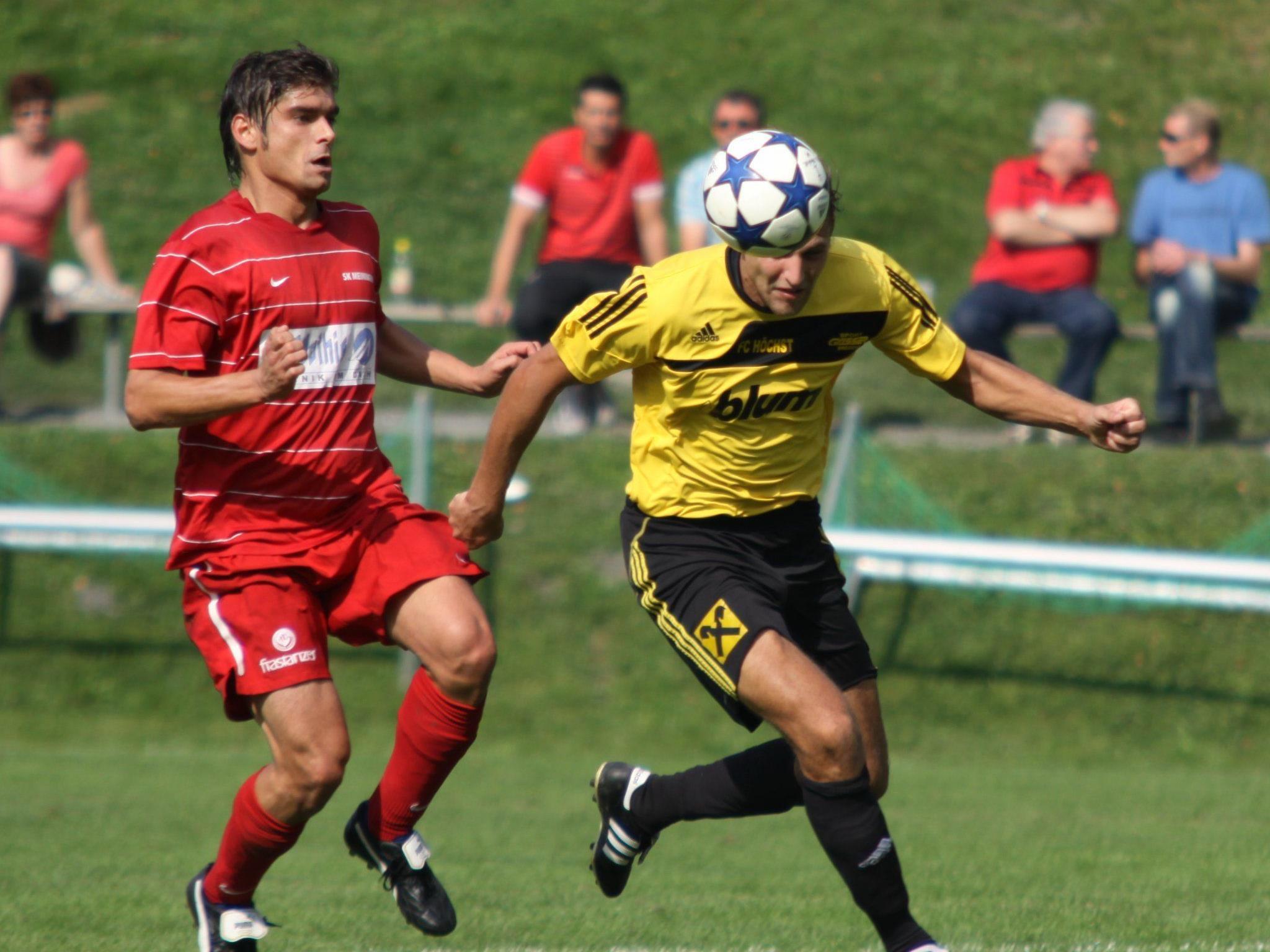 Höchst gewann gegen Bludenz mit 3:2-Toren.