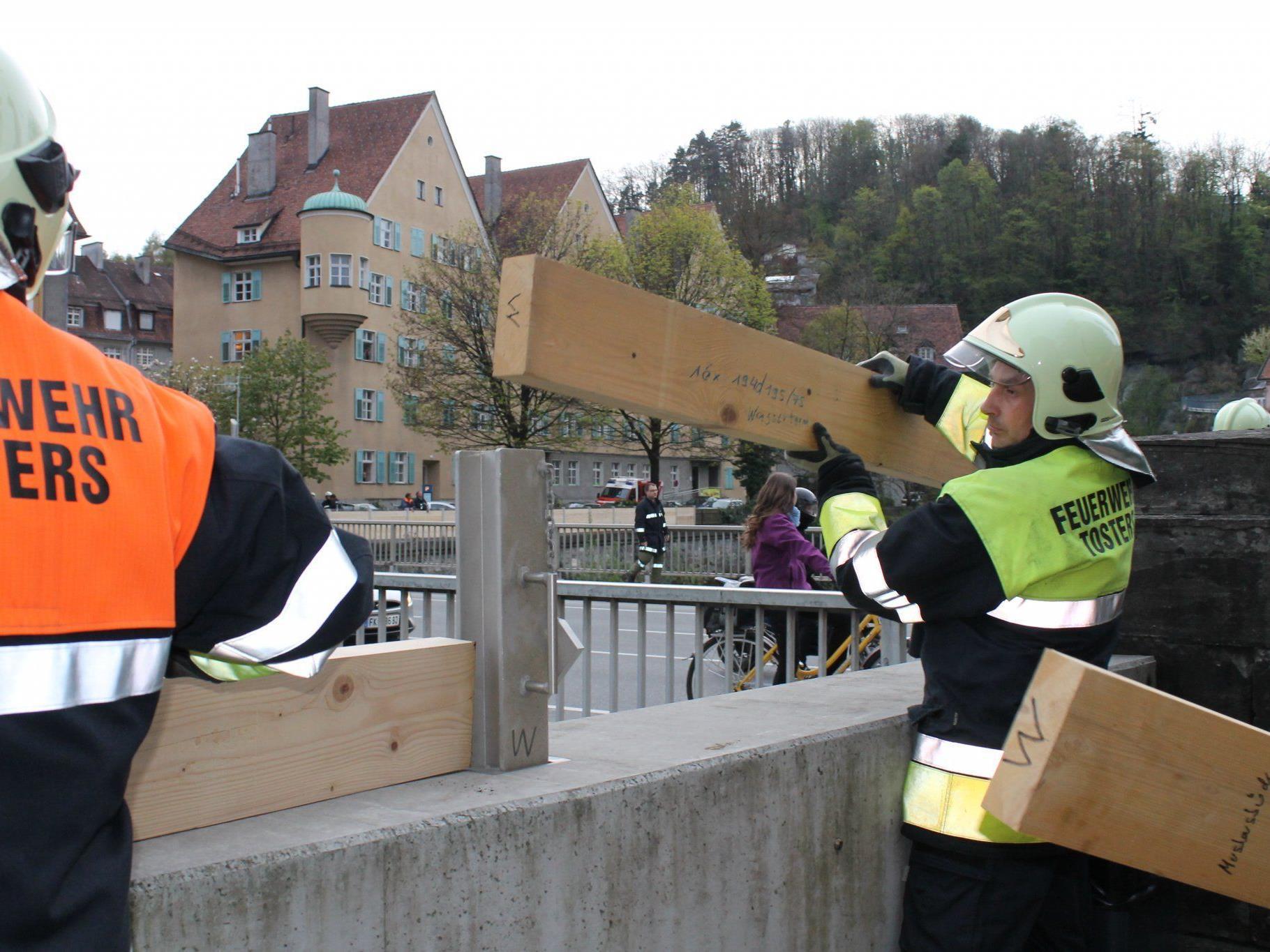 Feldkirch probte den Hochwasser-Ernstfall