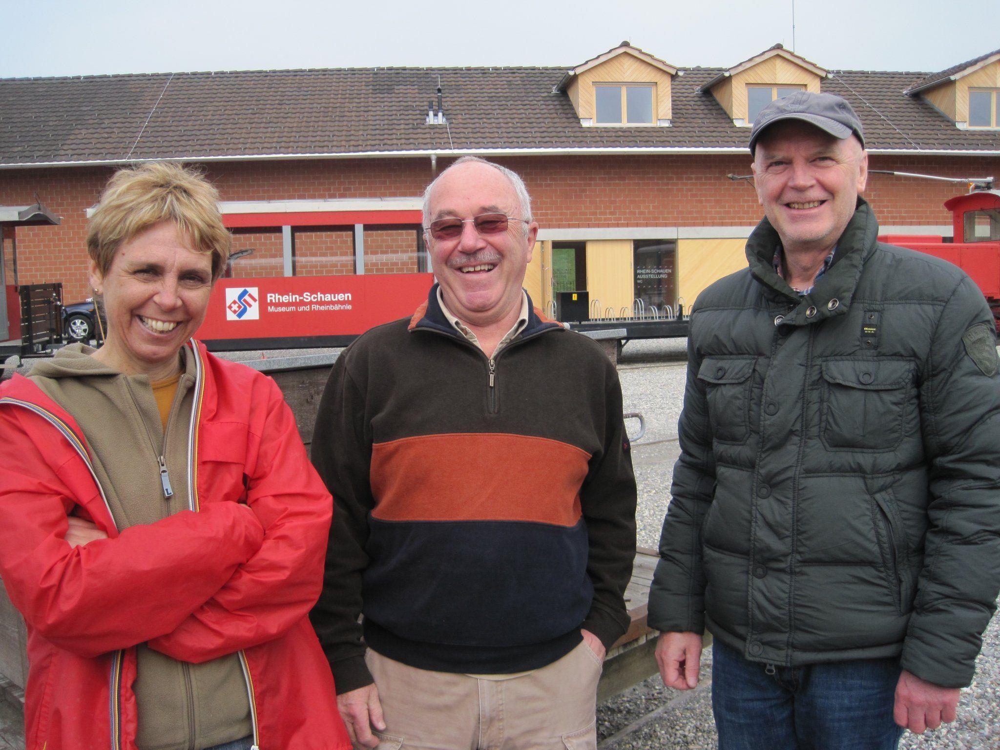 Museumsleiterin Dr. Gerda Leipold, Vereinsobmann Leo Kalt und DI Martin Weiß (Österr. Rheinbauleitung) freuen sich auf den Start in die neue Saison