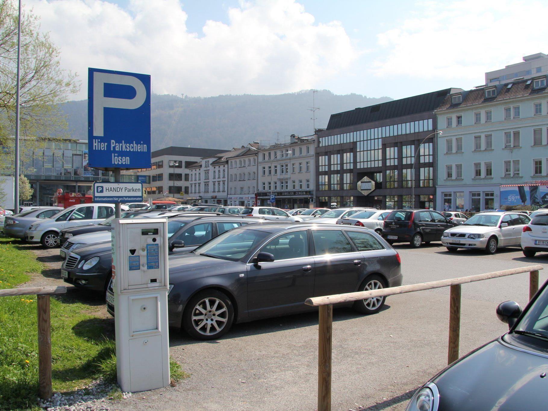 Seestadt Parkplatz in Bregenz