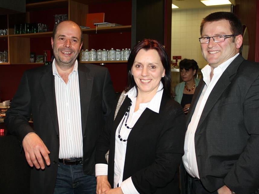 Im Gespräch: Ingo Metzler und Vizebürgermeister Dietmar Fetz mit Gattin Ruth.