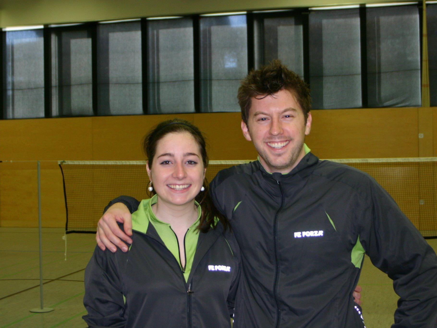 Die diesjährigen Vereinsmeister Christina Stemer und Joachim Schwald
