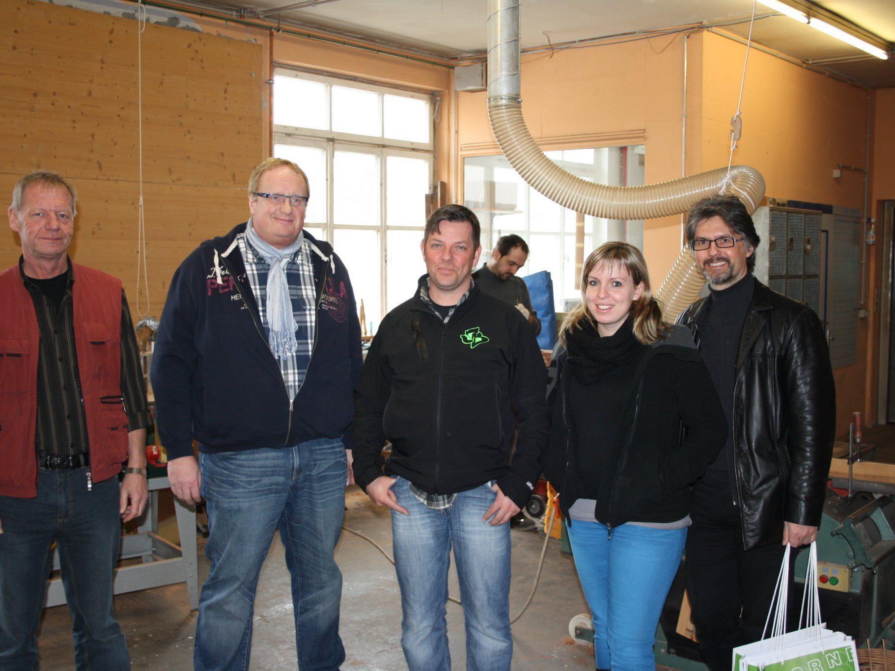 v.l.n.r.: Martin Hagen, Richard Groer, Lothar Girrbach, Karolin Schnippa, Elmar Luger