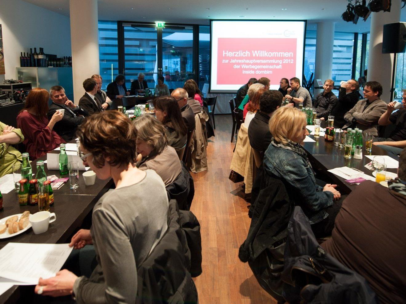 Zahlreiche Mitglieder kamen zur diesjährigen JHV von Inside Dornbirn in der Wirtschaft.