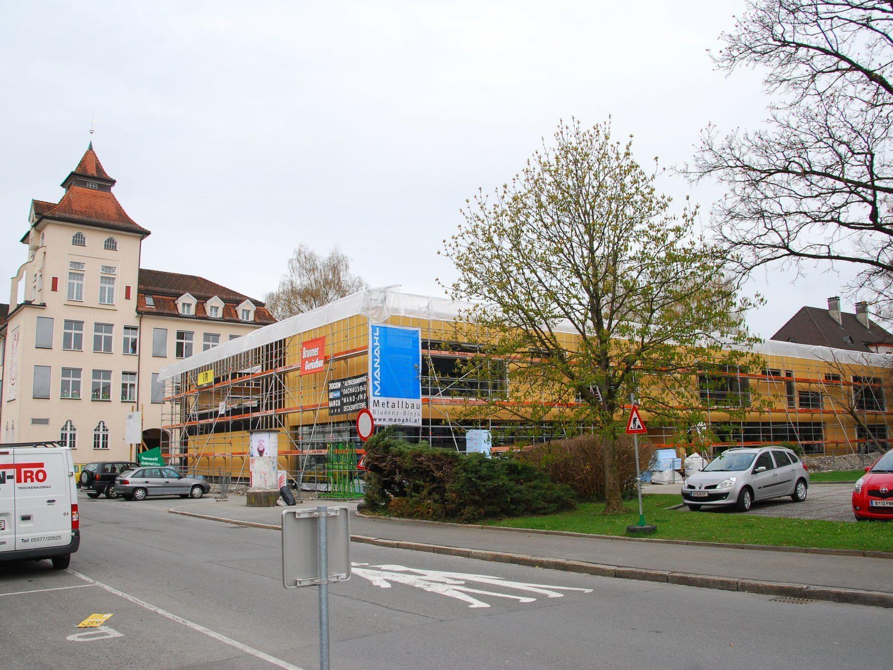 Beachtlicher Baufortschritt beim neuen Kindergarten Mariahilf.