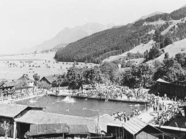 Das Felsenaubad im Jahre 1951