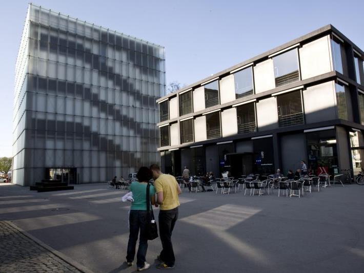Protestaktion auch im Kulturhaus Bregenz