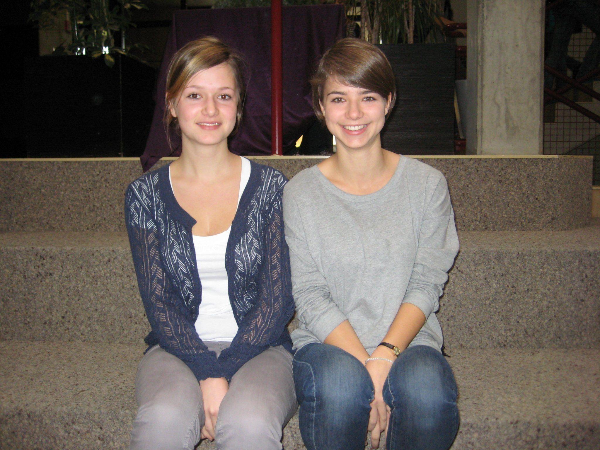 Die Organisatorinnen des Toleranz-Tages: Larissa und Marianna Nenning
