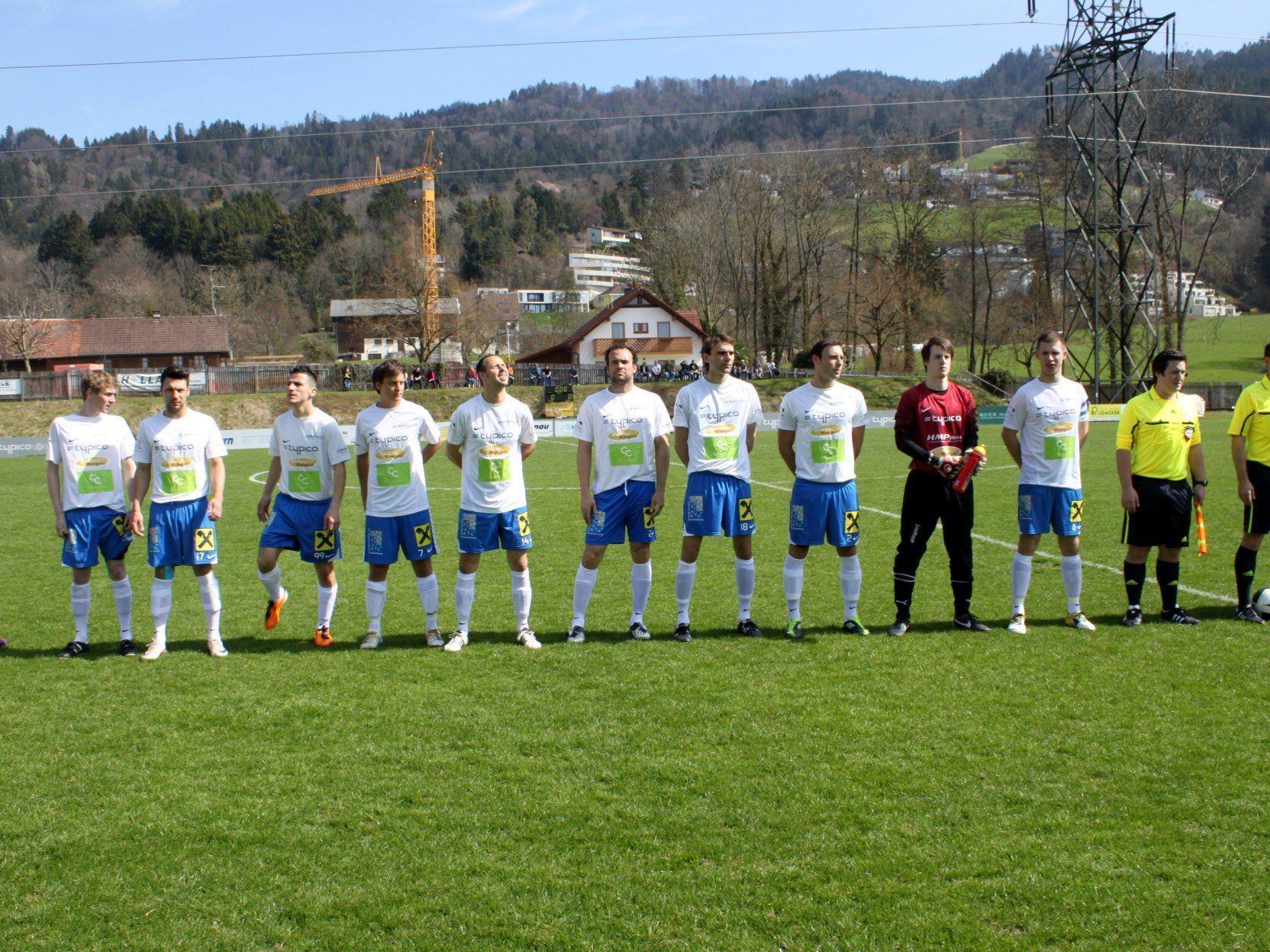 Gut aufgestellt präsentierte sich der SV Typico Lochau beim 1:1 gegen Koblach seinen Fans.