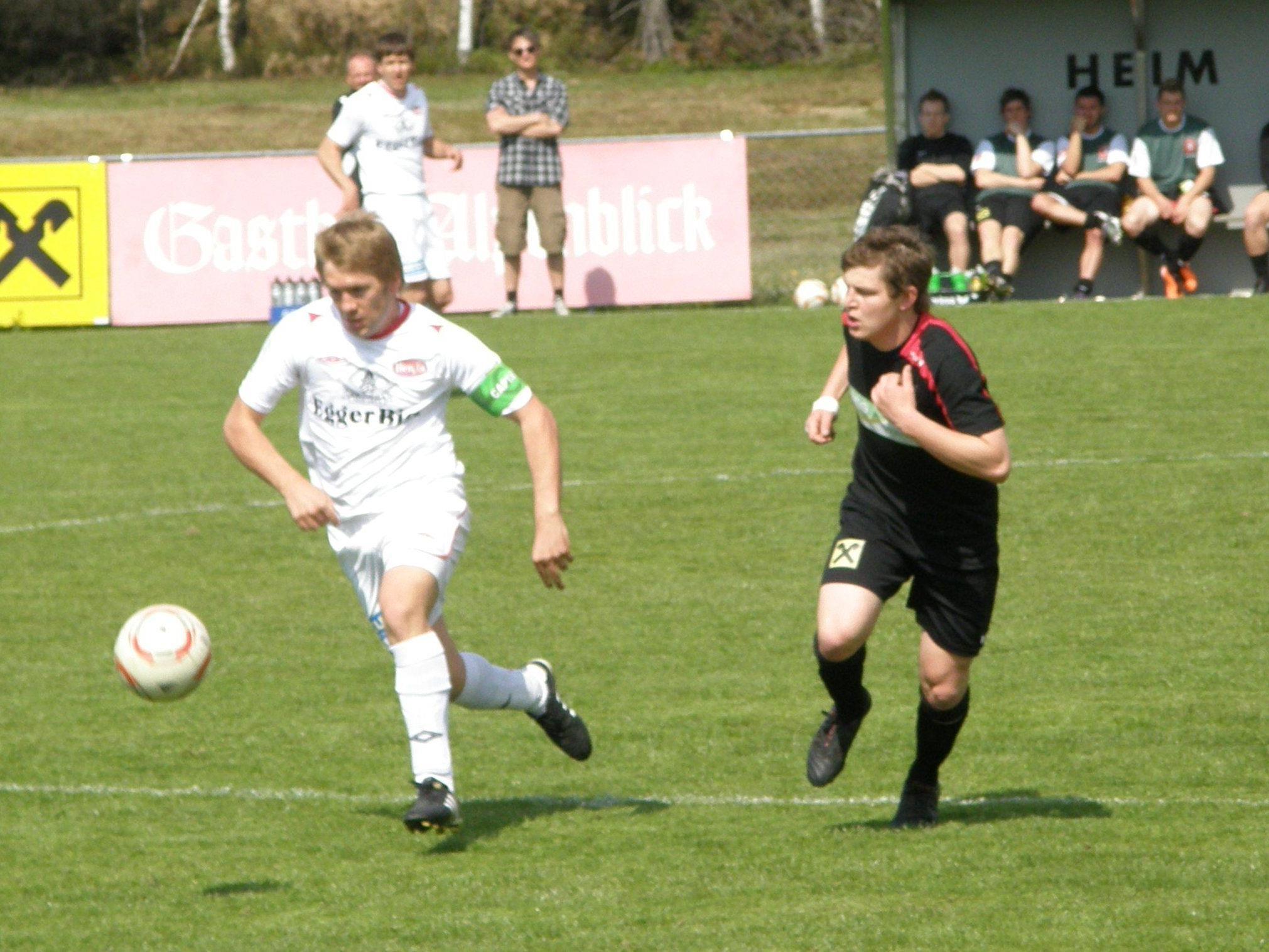 Der wieder genesene Patrick Meusburger (li.) und Raimond Hehle sind mittlerweile Teamkollegen in Egg.