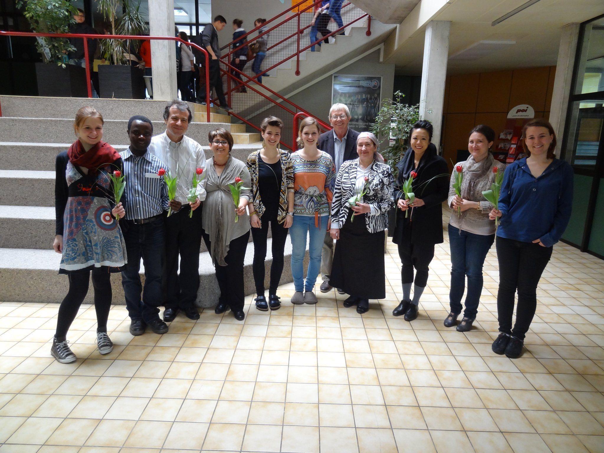 Organisatoren und Teilnehmer des Toleranz-Tages