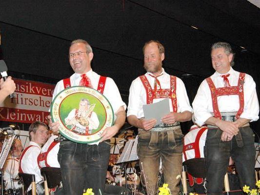 Geehrt: Michael Jochum, Lorenz Geiger und Helmut Morche.