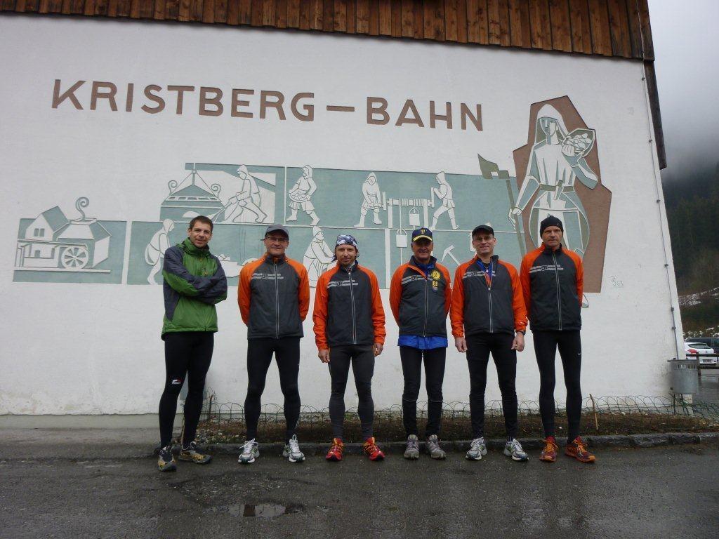 Die wetterfesten Läufer vom Berglaufteam Sparkasse Bludenz