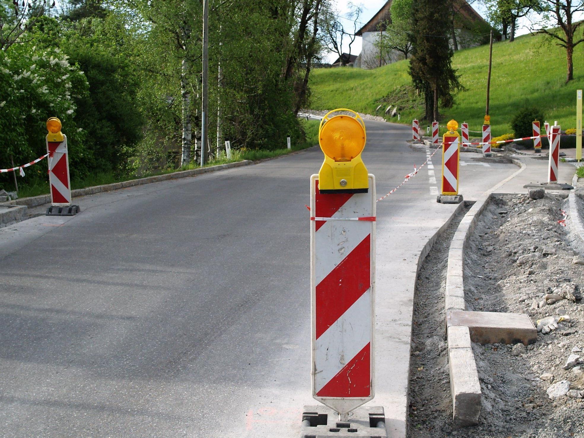 Im Zuge der Bauarbeiten kommt es zu Einschränkungen der Befahrbarkeit.