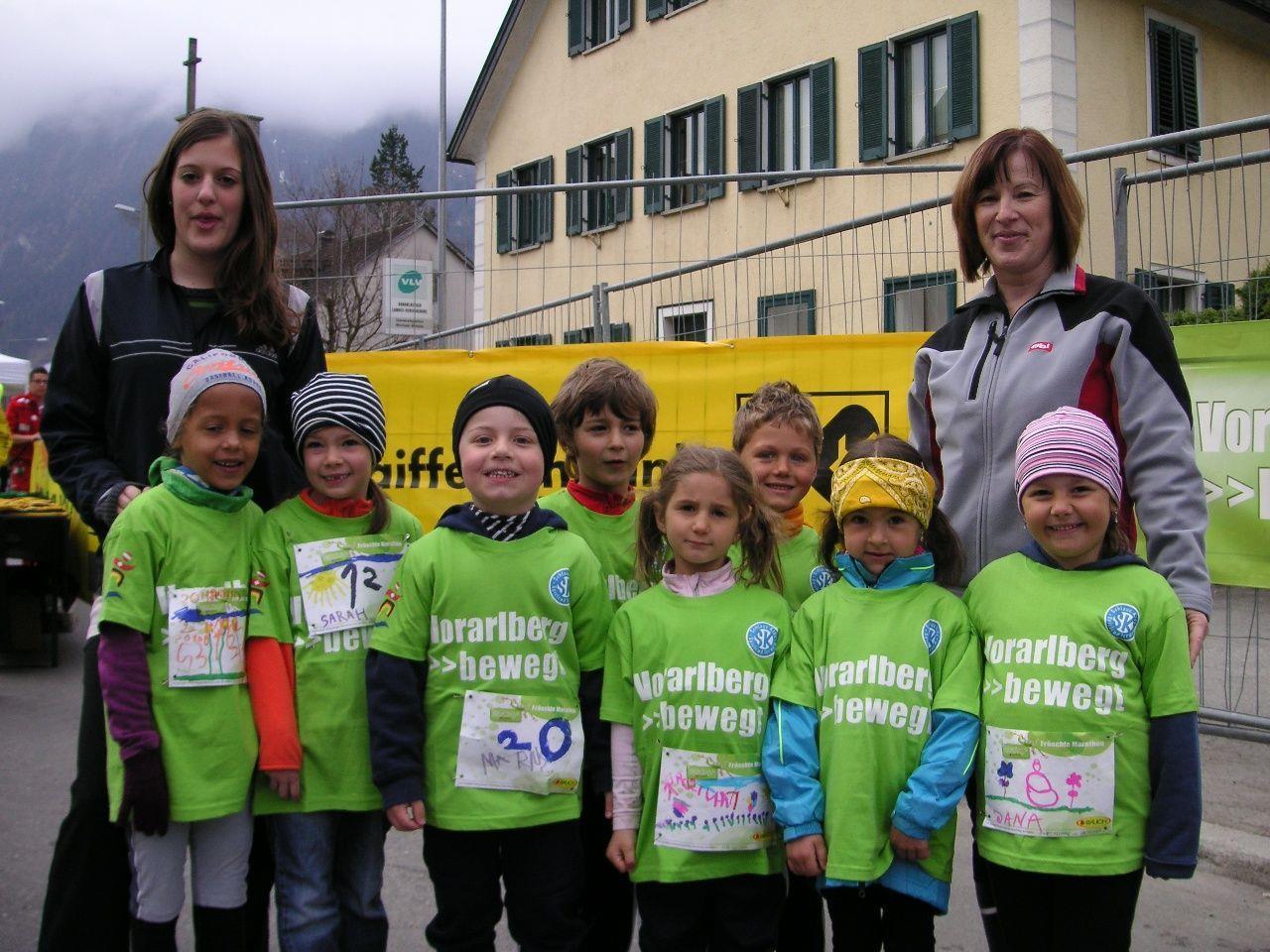 Das Laufteam des Kindergarten Bings
