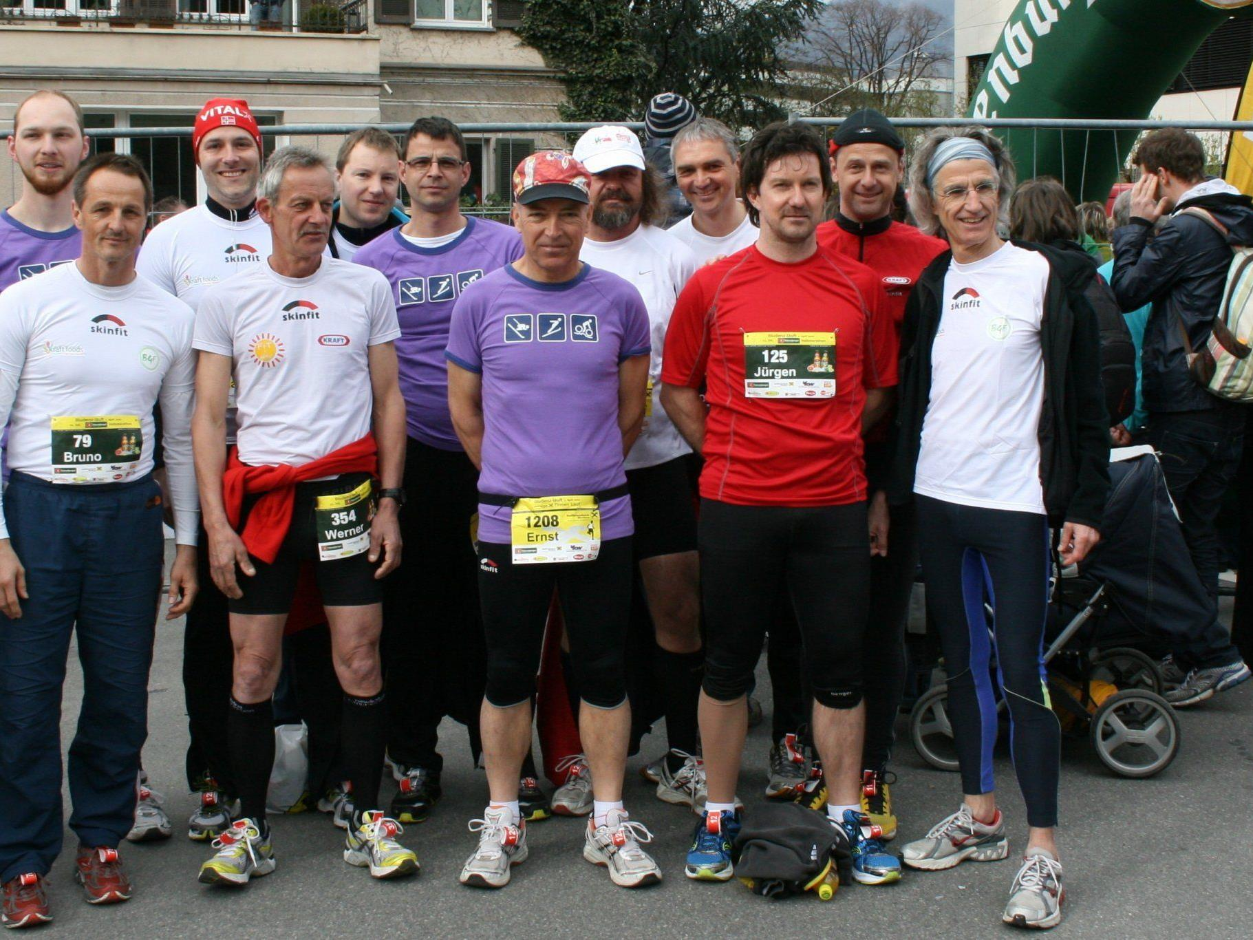 Starteten erfolgreich ins neue Laufjahr, die Laufgruppe KRAFT.