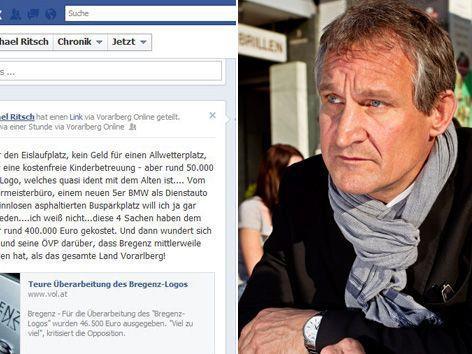 """Ritsch greift via Facebook Linhart an: """"46.000 Euro für ein neues Logo, aber kein Geld für einen Eislauf-Platz."""""""