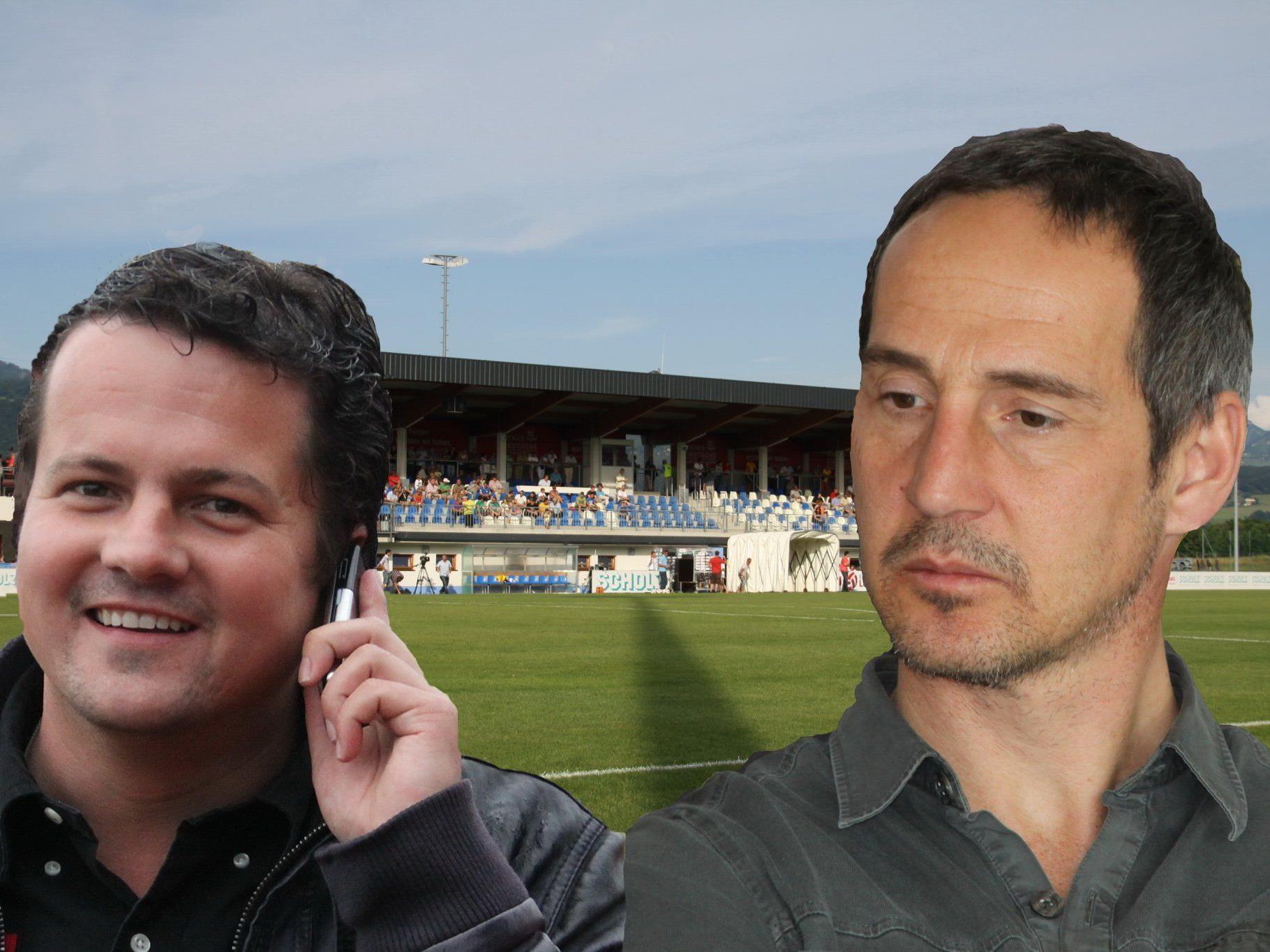 Grödig-Sportchef Christian Haas und Neocoach Adi Hütter arbeiten künftig eng zusammen.