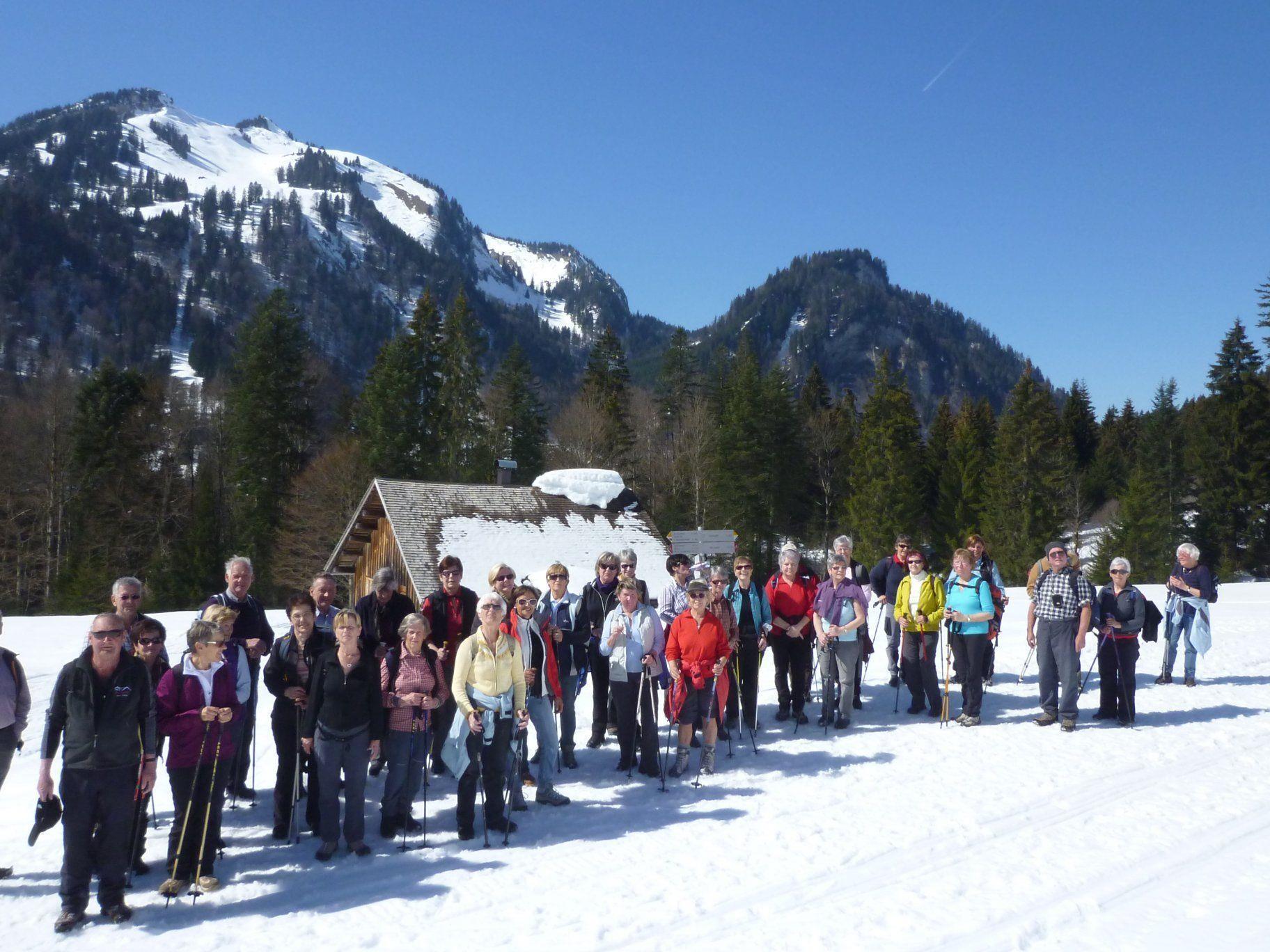 Bludenzer Senioren auf der Alpe Ifen.