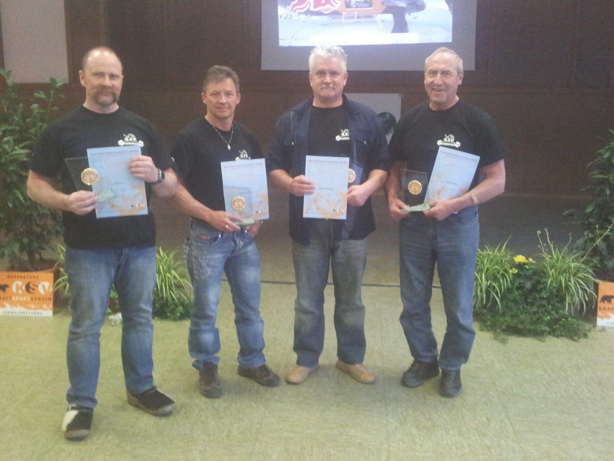 Das Hohenemser Quartett Mathis, Lamprecht, Kreil und Rampler holten die Goldene.